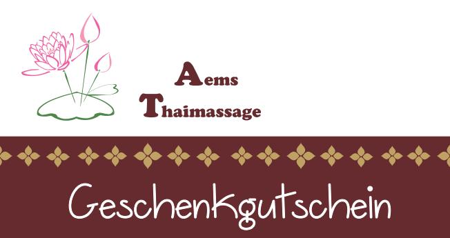 Geschenkgutschein Thaimassage Köln